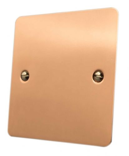 G&H FBC31 Flat Plate Bright Copper 1 Gang Single Blank Plate